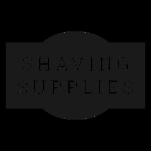 Shaving supplies label