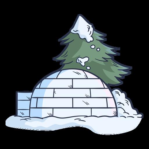 Side igloo illustration