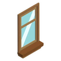 Single hung window isometric