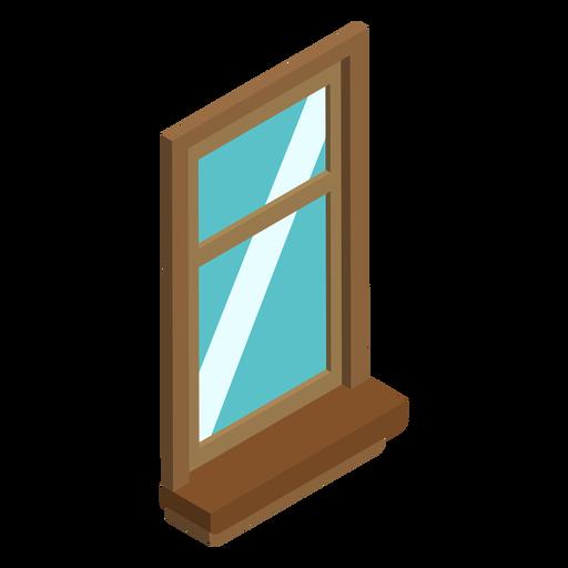 Ventana de guillotina isométrica