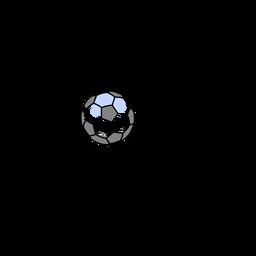 Bola de futebol isométrica