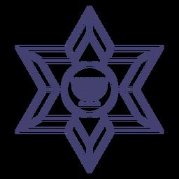 Stroke star of david and menorah