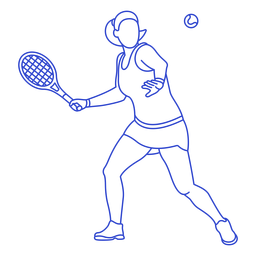 Jugador de tenis de carrera