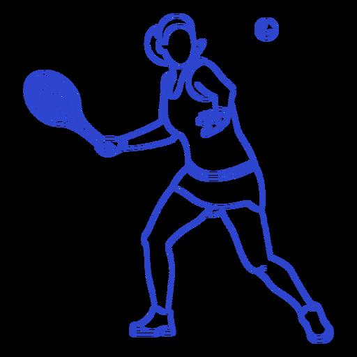 Stroke tennis player