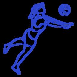 Jugador de voleibol de carrera