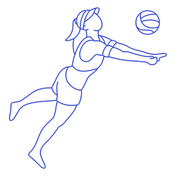Stroke volleyball player