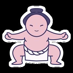 Pegatina de sumo