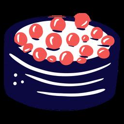 Sushi con caviar duotono