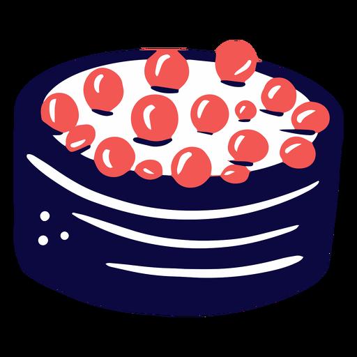 Sushi with caviar duotone