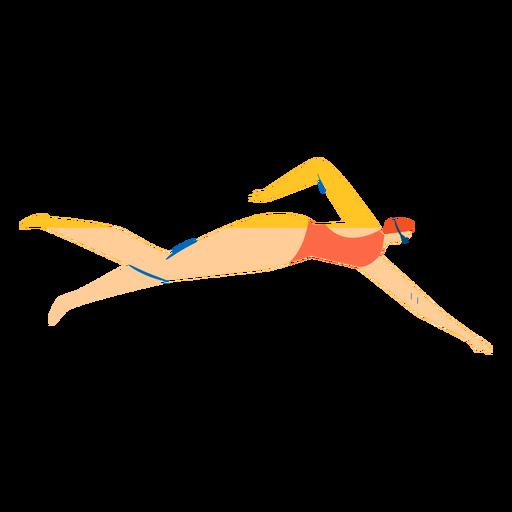 Personaje nadador