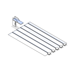 Swimming pool tracks isometric