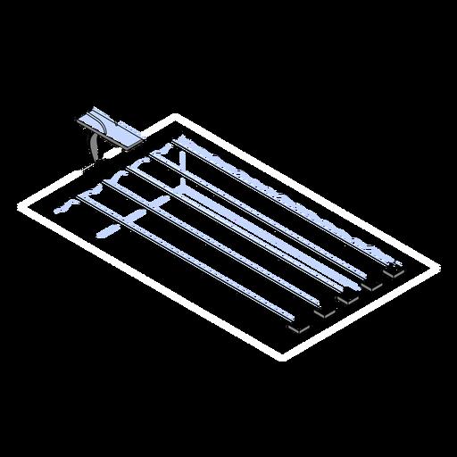 Swimming pool tracks isometric