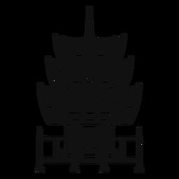 Templo en blanco y negro
