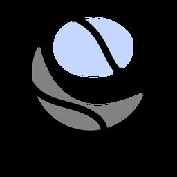 Tennis ball isometric