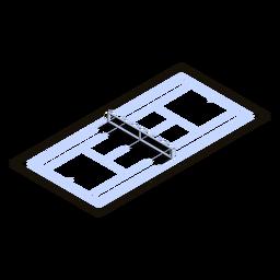 Cancha de tenis isométrica