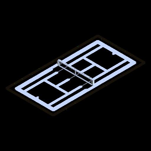 Cancha de tenis isométrica Transparent PNG