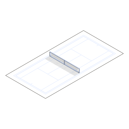 Tennis court isometric Transparent PNG