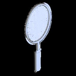 Tennis racquet isometric