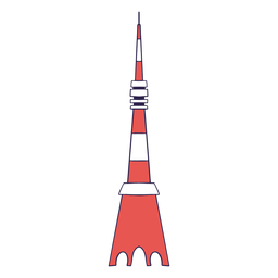 Tokyo tower duotone