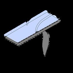 Piscina de trampolín isométrica