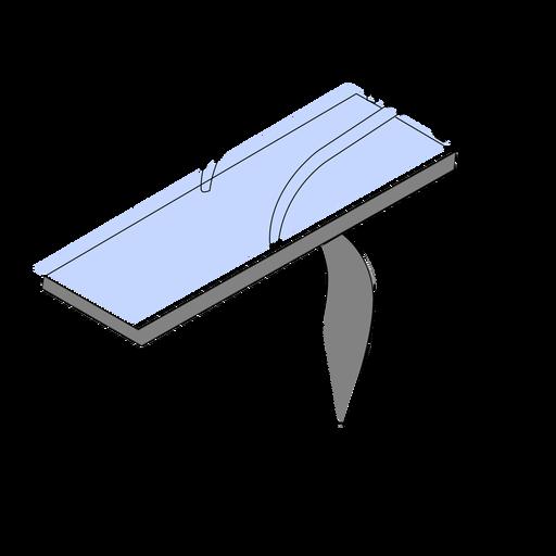 Trampoline swimming pool isometric