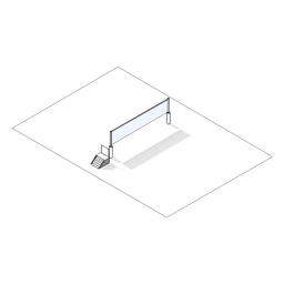 Cancha de voleibol isométrica