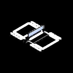 Quadra de vôlei isométrica