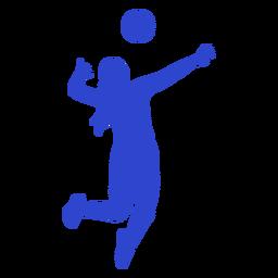Jugador de voleibol azul