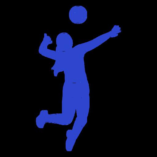 Jogador de voleibol azul