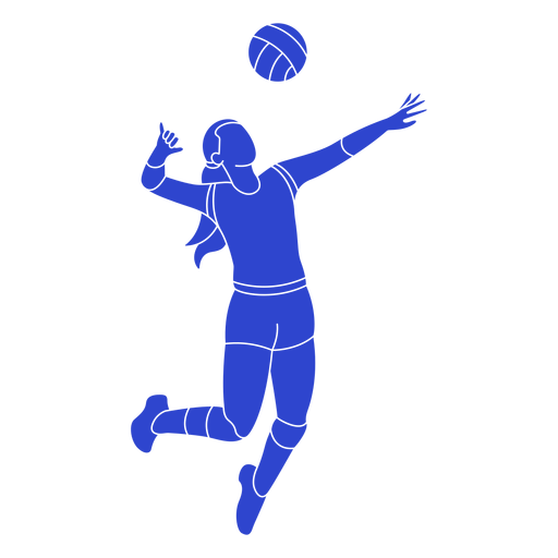 Volleyball player blue