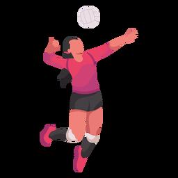 Jugador de voleibol plano