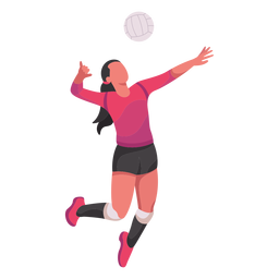Volleyball player flat