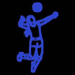 Golpe de jugador de voleibol