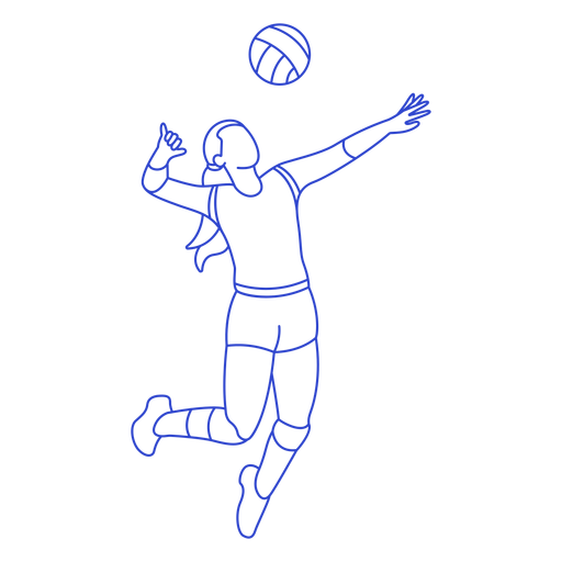 Volleyball player stroke
