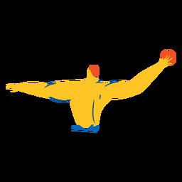 Personagem do pólo aquático