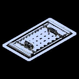 Piscina Waterpolo isométrica