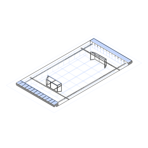 Waterpolo pool isometric