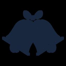 Icono de campanas de boda azul