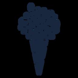 Wedding bouquet blue icon