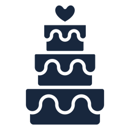 Wedding cake blue icon