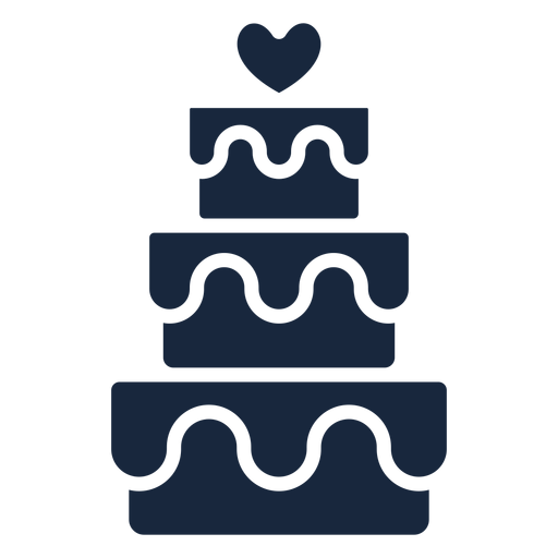 Wedding cake blue icon Transparent PNG