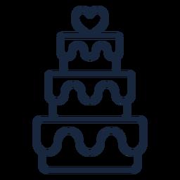 Wedding cake stroke