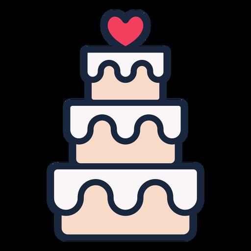 Wedding cake stroke icon Transparent PNG