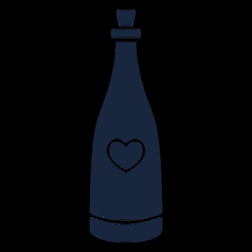 Hochzeit Champagner blau Ikone