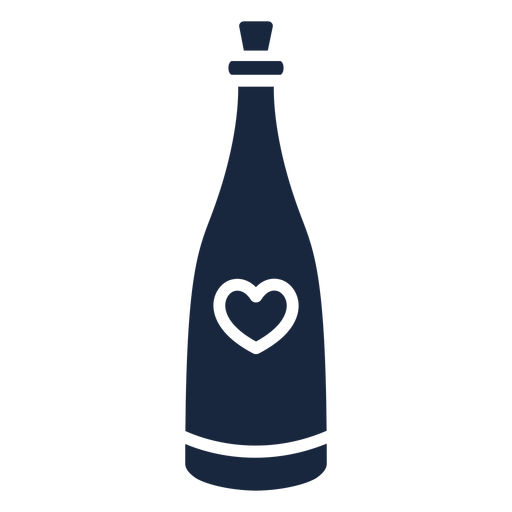 Wedding champagne blue icon
