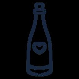 Curso de champanhe de casamento