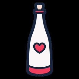 Wedding champagne stroke icon
