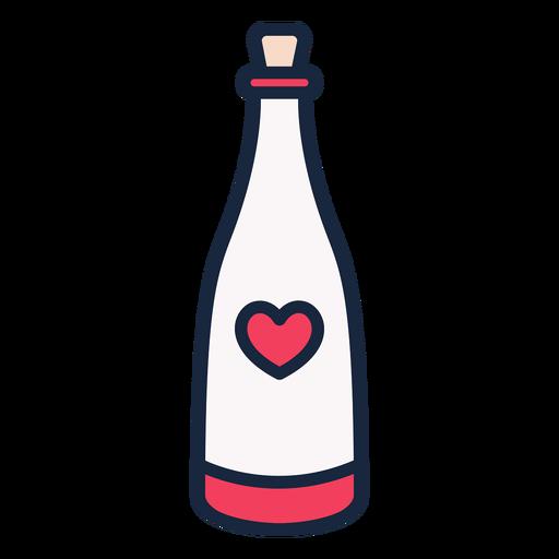 Hochzeit Champagner Strich Symbol