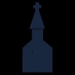 Igreja de casamento ícone azul