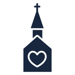 Wedding church blue icon